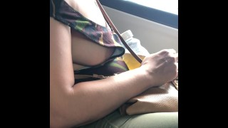 Wife in Leggings with Visible Side Boobs in Public
