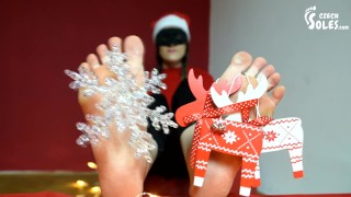 Special Christmas Sexy Barefoot Teasing (foot Fetish, Young Feet, Soles)