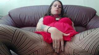 MILF Masturbates with Glass Dildo in Pussy and Ass